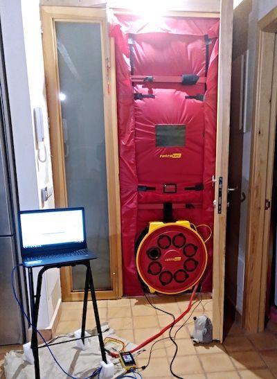 Instalación Blower Door en Mallorca